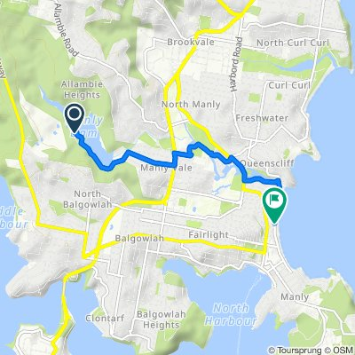 Sir Roden Cutler VC Memorial Drive, Allambie Heights to 86–93 North Steyne, Manly
