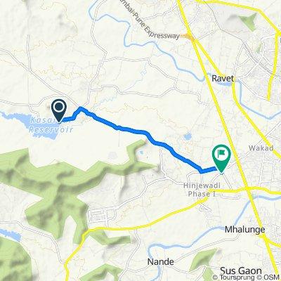 Route to Shankarrao Shripatrao Gayakwad Path, Pimpri Chinchwad