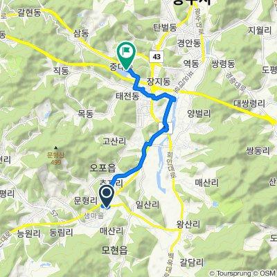 Opo-eup 245-4, Gwangju-si to Gwangnam-dong 132-1, Gwangju-si
