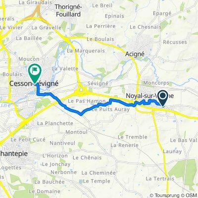De 6–8 Les Landelles, Noyal-sur-Vilaine à 3 Rue de l'Hôtel de Ville, Cesson-Sévigné