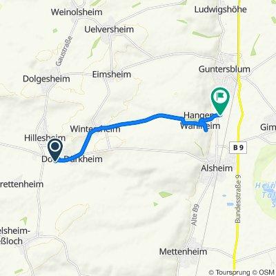 Route von Bahnhofstraße 60, Dorn-Dürkheim