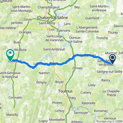 De Route des Pilloux, Savigny-sur-Seille à D153, Culles-les-Roches