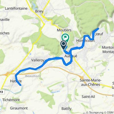 De 1 Route de Briey, Auboué à 4 Route de Briey, Auboué