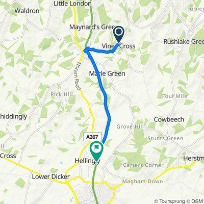 13 Hurstshaw Gardens, Heathfield to 7 Danecroft Place, Hailsham