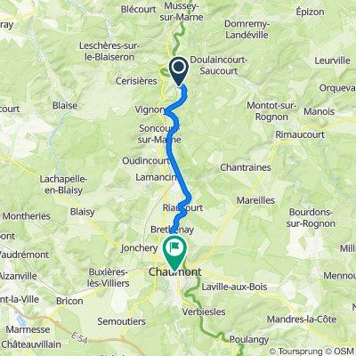 3 Rue des Ponts, Froncles to 2–4 Rue de la Victoire de la Marne, Chaumont