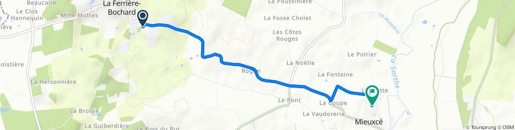 De Rue Lucien Lobjoit 1, La Ferrière-Bochard à La Pallière 196, Mieuxcé