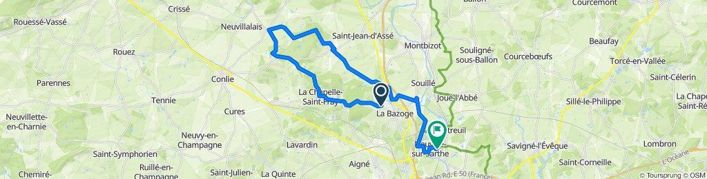 De Rue de la Madeleine 55, La Bazoge à La Foucaudière 50, Neuville-sur-Sarthe