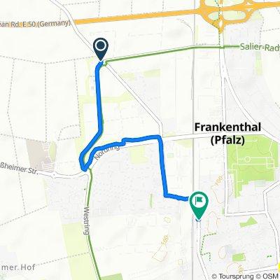 Beindersheimer Straße 102, Frankenthal (Pfalz) nach Eisenbahnstraße 22, Frankenthal (Pfalz)