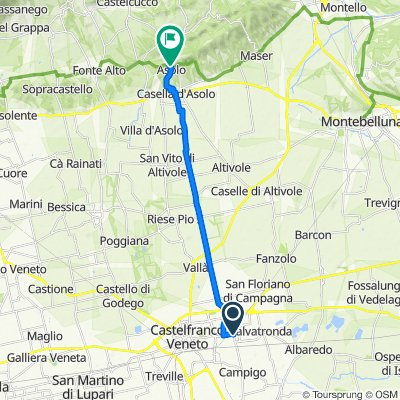 Da Via Sile 22, Castelfranco Veneto a Via Roma 59/A, Asolo