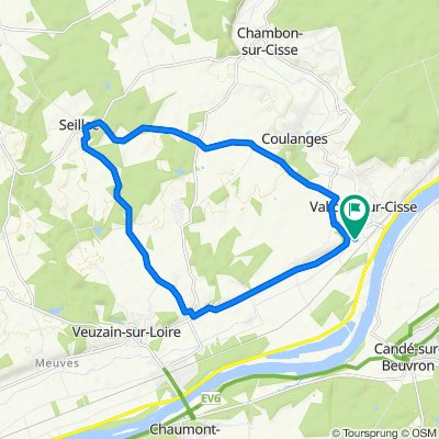 Itinéraire à partir de 23 Rue de l'Église, Chouzy-sur-Cisse