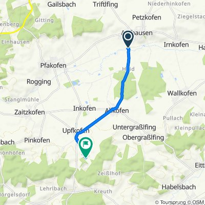 Seilerberg 32, Aufhausen nach Unnamed Road, Mallersdorf-Pfaffenberg