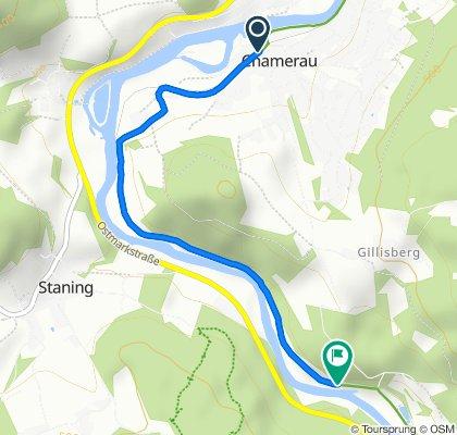 Route von Bahnhofstraße 2, Chamerau