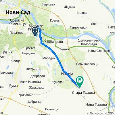 šumareva kuća, Sremski Karlovci to Novosadska 72, Stara Pazova