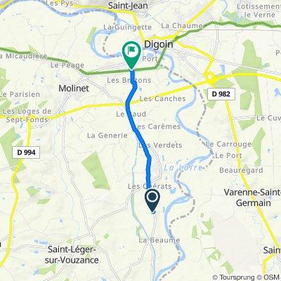 De Route de Luneau, Chassenard à 2 Rue de Chavannes, Chassenard