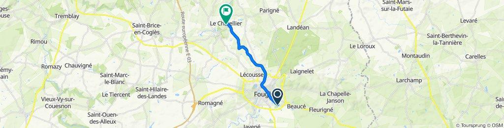 De 2 Rue Colbert, Fougères à 6 Rue du Soleil Levant, Le Châtellier