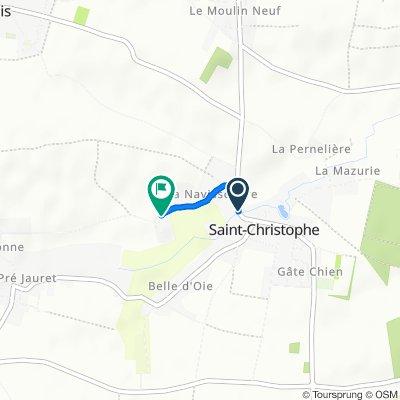 De 29 Route de Marans, Saint-Christophe à 28 Rue de la Baugé, Saint-Médard-d'Aunis