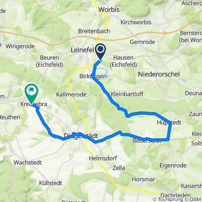 Waldstraße 42–60, Leinefelde-Worbis nach Plan 4, Kreuzebra