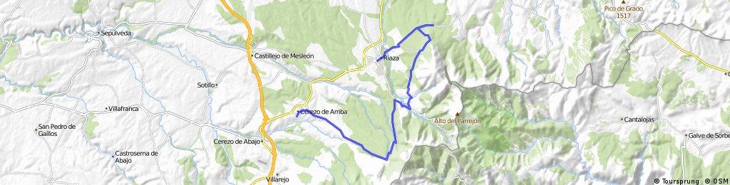 Cerezo-Riofrío-ermita de Hontanares-Riaza