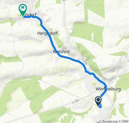 Route nach Friedhofstraße 7, Ahlsdorf