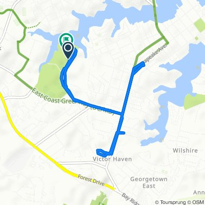 Truxton Park to Bay Ridge little loop