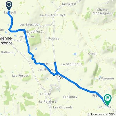 Le Seuil, Varenne-l'Arconce nach D158, Oyé