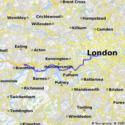 Central London to Brentford