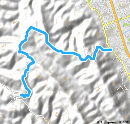 Palomares Wineries to Foothill Crosscut anti-84 Dirt Le Route