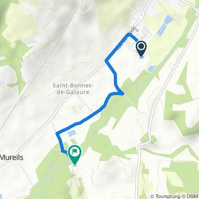 Route naar 680 Route des Bayardières, Mureils