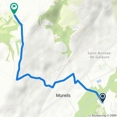 Chemin de Vère, Mureils naar 1083 Chemin du Vivier, Fay-le-Clos