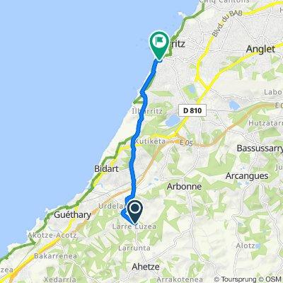 De 4 Chemin Molèressia, Arbonne à 11 Rue Paul Bert, Biarritz