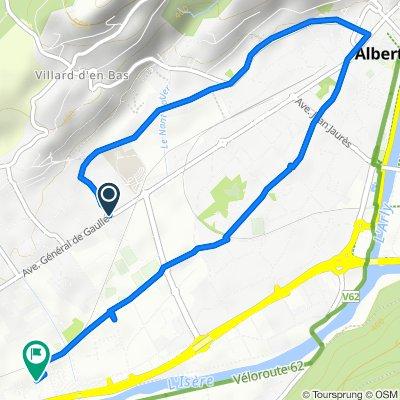 De 1 Chemin de l'Olivet, Albertville à Lotissement du Grand Pré, Gilly-sur-Isère