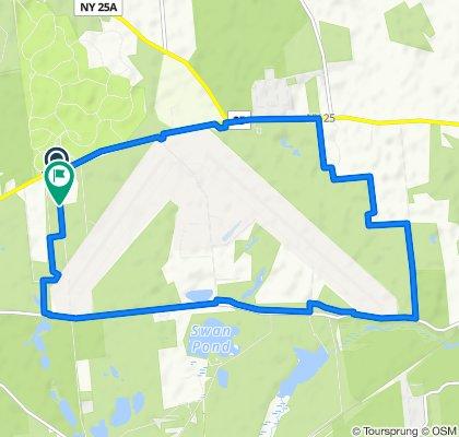 Route from 5890 NY-25, Calverton