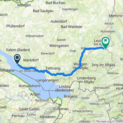 Meersburg (Bodensee) - Leutkirch im Allgäu (Center Parcs)