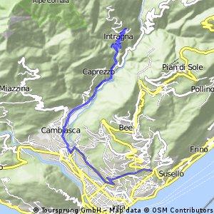 Bergstrasse von Verbania nach Intragna