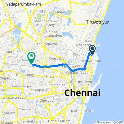 3rd Street 25/10, Chennai to D3, Chennai