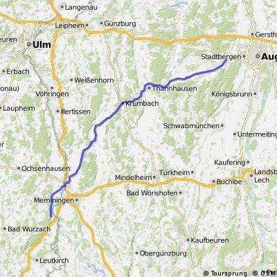 near Memmingen to near Augsburg