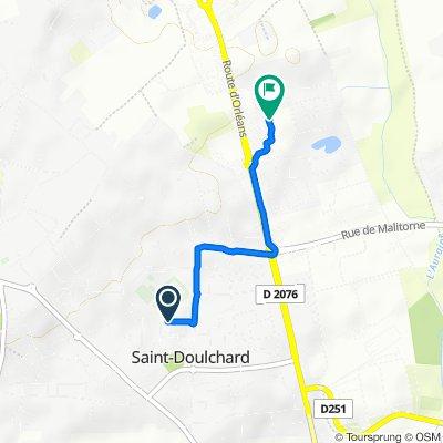 De Rue Alain Fournier 7, Saint-Doulchard à Route d'Orléans 548, Saint-Doulchard