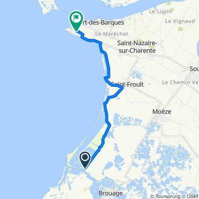 Itinéraire vers Chemin Vert, Port-des-Barques