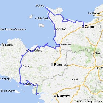Normandie und Breatge - par la côte
