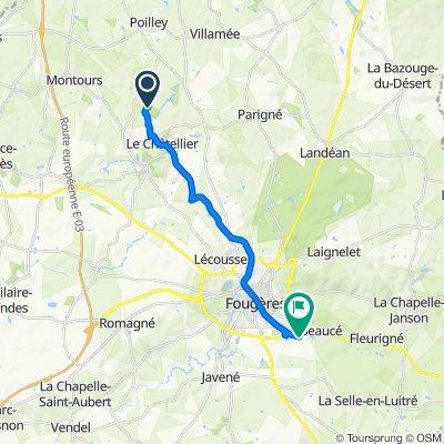 De 8–9 La Folletière, Le Châtellier à Rue Alfred Sauvy, La Selle-en-Luitré
