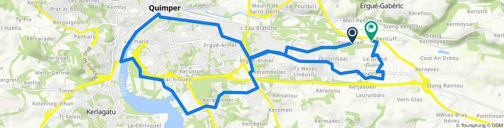 De 68 Chemin de Kergonan, Quimper à 9–73 Chemin de Keraudren, Quimper