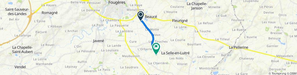 De Rue Alfred Sauvy, La Selle-en-Luitré à 150 Le Clairay, Luitré-Dompierre