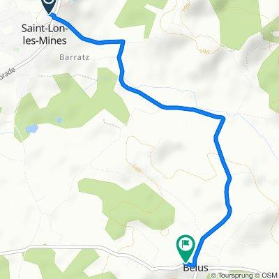 De 30 Route de la Payolle, Saint-Lon-les-Mines à 4 Nassy, Bélus
