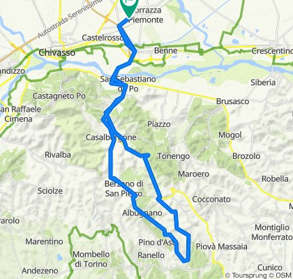 Da SP89, Torrazza Piemonte a SP89, Torrazza Piemonte