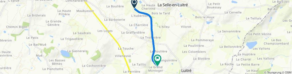 Itinéraire à partir de 150 Le Clairay, Luitré-Dompierre