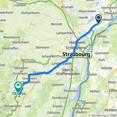 6 Route Nationale, Kilstett nach 20 Place de l'Étoile, Obernai