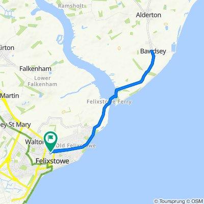 1 Railway Approach, Felixstowe to 1 Railway Approach, Felixstowe
