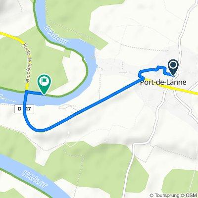 De 101 Chemin de Saint-Étienne Dorthe, Port-de-Lanne à 555 Route de Sourouille, Sainte-Marie-de-Gosse