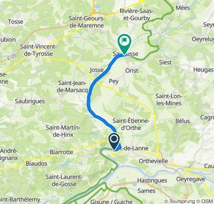 De 555 Route de Sourouille, Sainte-Marie-de-Gosse à 3–9 Rue du Port, Saubusse
