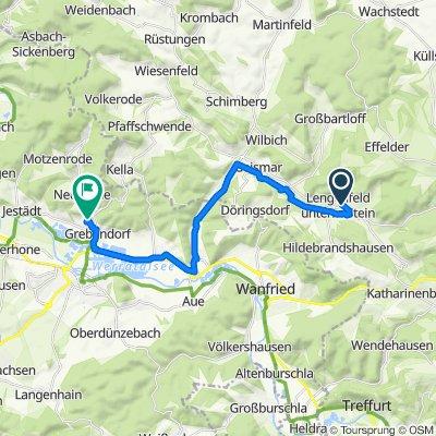 Schulstraße 22, Südeichsfeld nach Europaring 42, Meinhard